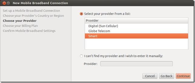 How to install a Smart Bro 3G USB modem on Ubuntu 12 04
