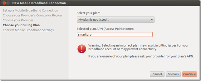 How to install a Smart Bro 3G USB modem on Ubuntu 12 04 | Calazan